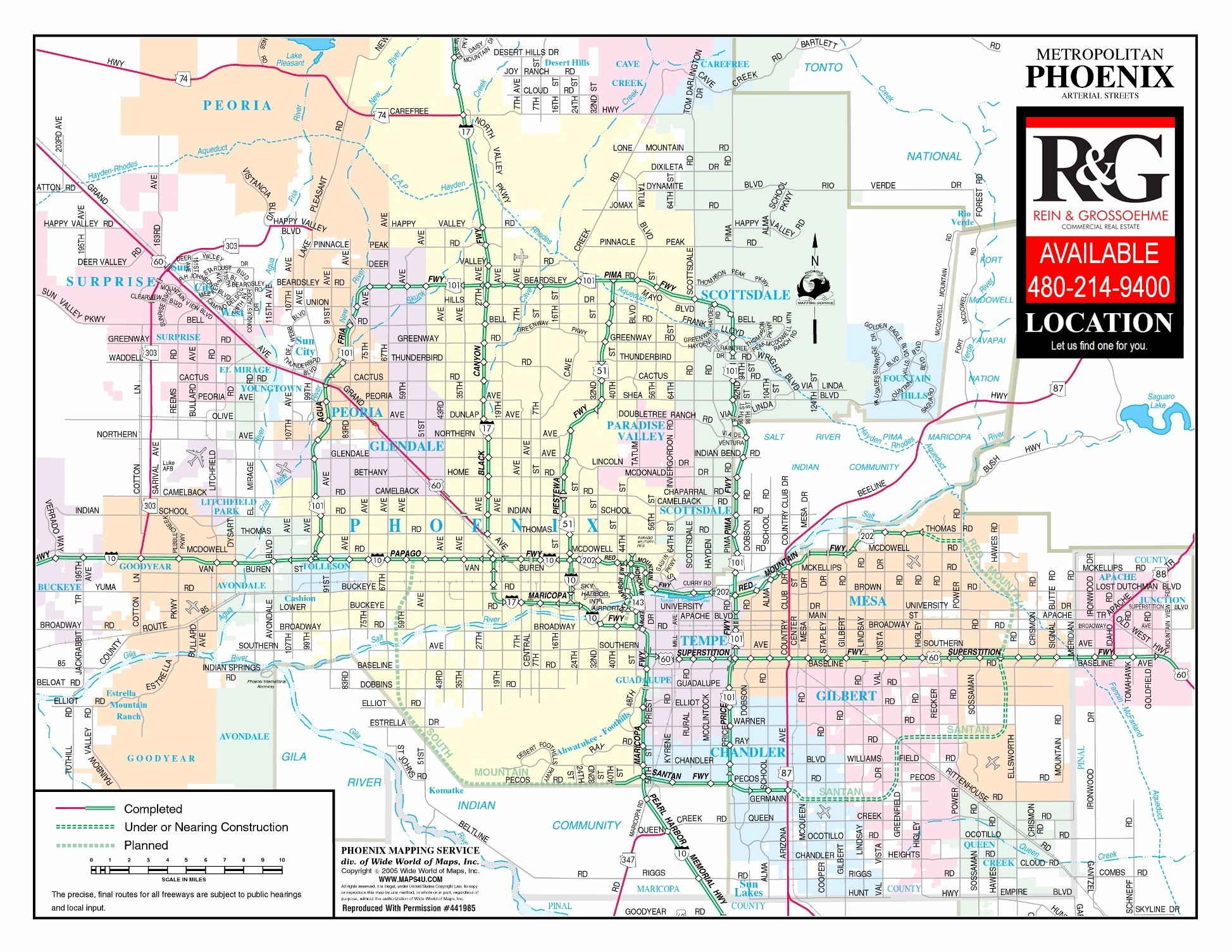 phoenix arizona map. phoenix arizona map  rein  grossoehme commercial real estate